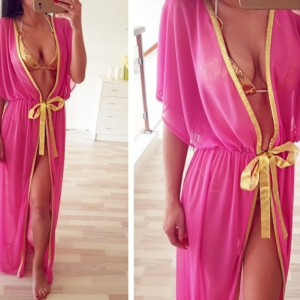✂ROSE/GOLD BIKINI COVER UP